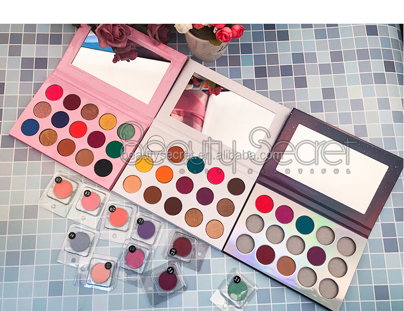 Makeup new eyeshadow palettes 2020  private label vegan 26mm eyeshadow packaging