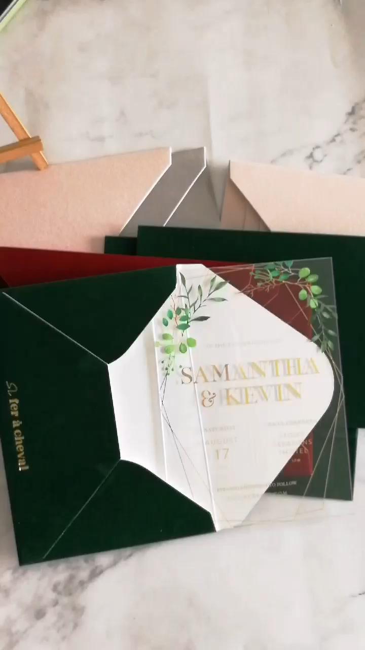 Multi Colori Disponibili Velluto Buste Pelle Scamosciata Custom Buste per Gli Inviti di Nozze