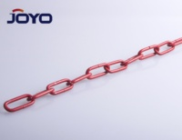 DIN763 red electrophoretic painted finish steel long link chain