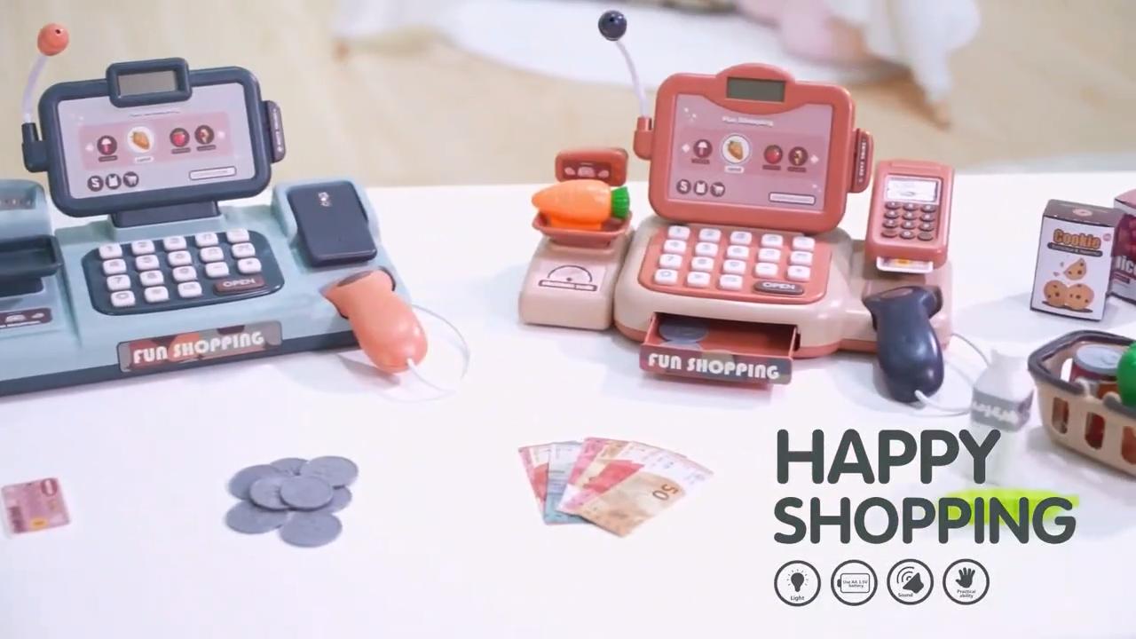New Design Intelligent Speech Recognition Light Supermarket Cash Counter Machine Toy