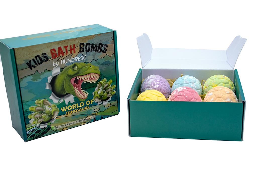 Hot Sale Dinosaur Egg Bath Salt With Surprise Toys For Kids Natural Organic Bath Fizzers With Essential Oils