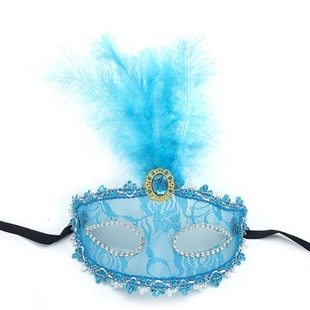 Carnival dress For women girls costume feather halloween mardi gras cosplay carnival masquerade party masks