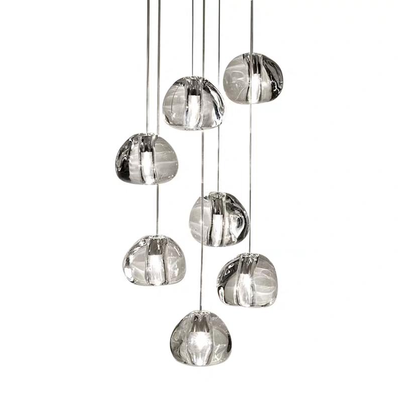 Moderno Lampadario Di Cristallo G4 HA CONDOTTO LA Lampada Trasparente Bolla di Vetro Palla Pendente Luce
