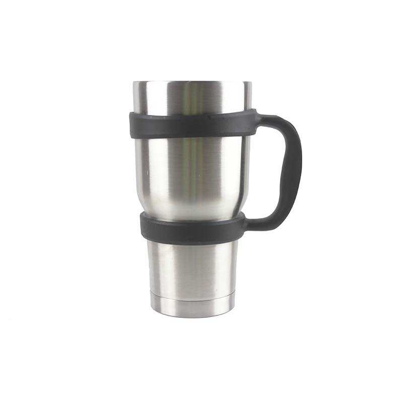 BPA मुक्त 30 Oz गिलास पकड़ प्लास्टिक मग संभाल के लिए अनुकूलित गैर पर्ची संभाल 30 Oz स्टेनलेस स्टील कॉफी Tumblers