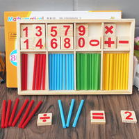 Hot Amazon Kids Wooden Colorful Math Learning Stick Toys