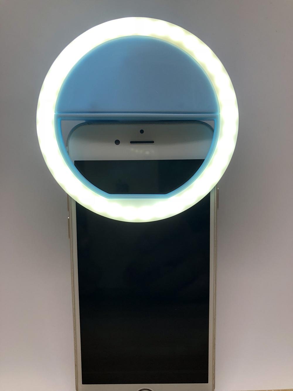 OEM Toptan taşınabilir güzellik flaş LED selfie halka ışık cep telefonu, mini daire kamera flaşı ışık halkası makyaj için