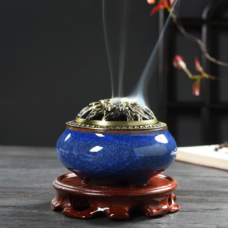 Al por mayor venta al por mayor nuevo diseño de vidrio de cristal bakhoor quemador de incienso
