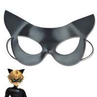 Anime Halloween Chat noir Cosplay noir Chat Mascarade Masque EN PVC