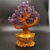 Wholesale natural hand-made  amethyst  quartz crystal fortune  ingot  tree healing stones for decoration