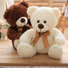 wholesale free sample plush bear toy/Custom Teddy Bear with Different Colors T-shirt/white mini soft teddy bear