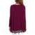 Charming Red O Neck Long Sleeve Lace Irregular Blouses Top For Women