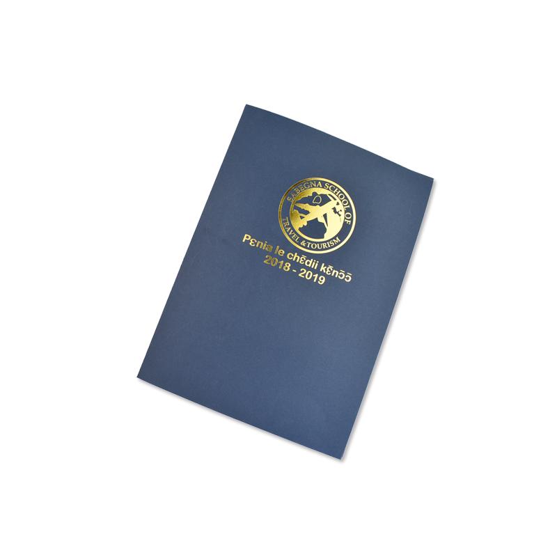 Zuoluo Пользовательские печати офисная бумага Презентация папка фольга золото штамповки