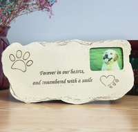 Pet Memorial Dog Stone, Hand-Printed Personalized of Pet Gifts,Paw Print Pet Memorial Stone