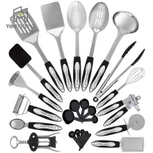 Non Stick Camping Tools Copper Stainless Steel 24 Kitchen Cooking Utensil Set