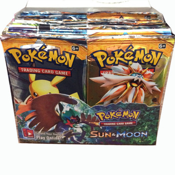 good quality 324 Pcs/box SUN & Moon Playing Pokemon Gx Cards