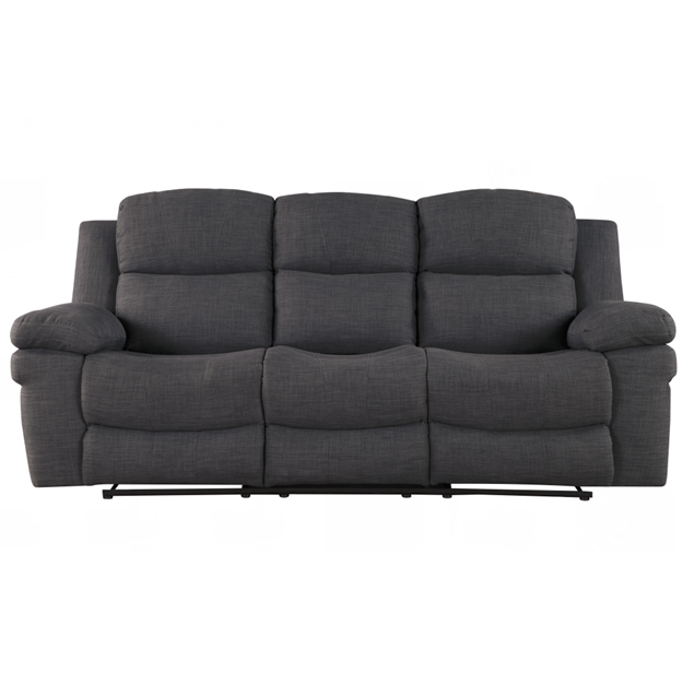 Classic American style comfortable Manual 3 seat with coffee table fabric cover recliner sofa for living room