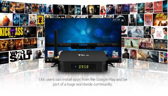 Top di Vendita Android 9.0 TV Box 4GB di RAM 32GB di ROM 2.4G/5.8Ghz Wifi OTT 4K Set Top Box TX6