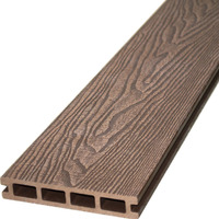 3d texture wood grain design deep embossing surface Brown color 146*25 wpc outdoor decking wpc decking composite decking
