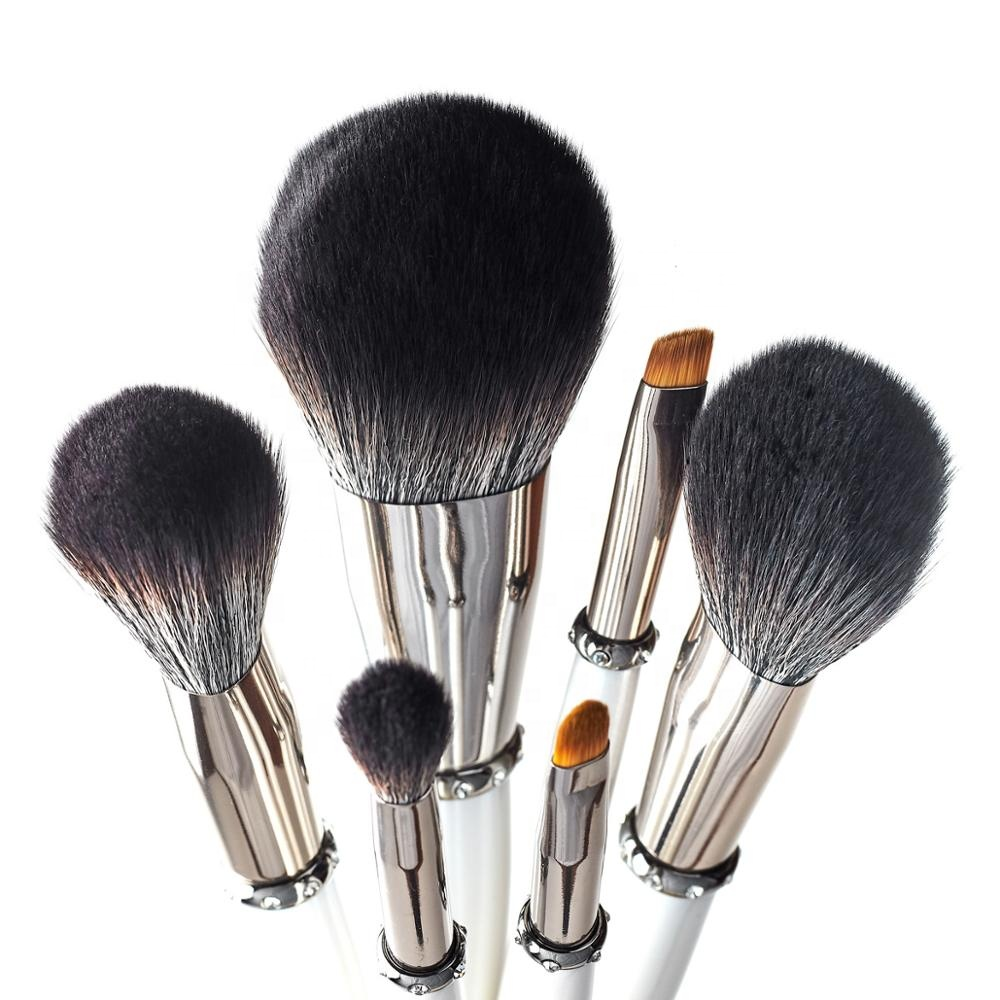 professional vegan makeup brushes private label natural hair black make up brushes kabuki makeup brush set