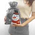 Reusable Non Woven Cartoon Santa Christmas Bag For Packing Gift Event Party Decoration Customized Design