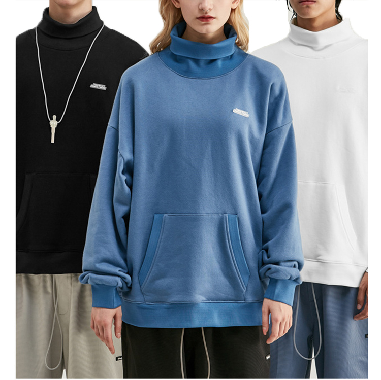 winter warm hoody plus thick turtleneck pullovers Sweatshirt women clothing tops