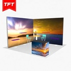 Aluminium Fabric Banner Indoor Counter Portable Double Sided Backlit Display Trade Show 10 X 10 With Shelves