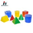 High quality mathematic material plastic geometric cubes in outspread 8pcs