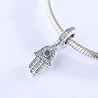 Adodo Factory Outlet CZ Zircon 925 Sterling Silver Hand Evil Eye Charms Pendant