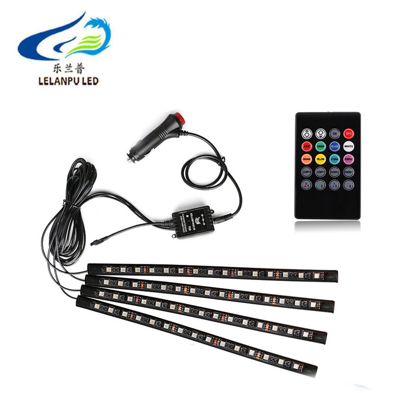 Car Interior Atmosphere 5050 9SMD 12SMD 15SMD 18SMD RGB Strip Decorative Light Music Sound Control Multiple Lighting