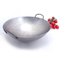 Traditional Iron Wok Tafel Gaz Cook Pot Non-Stick Pan Non-Coating Gas Cooker Outdoor Cookware