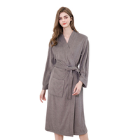 Spa Bath Robes Terry Hotel Kimono Bathrobe Womens Custom White Robe femme
