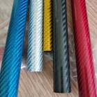 3k Plain Twill Matte Glossy Surface carbon pipe tube, fiber carbon tube, Round Square carbon tube coloured
