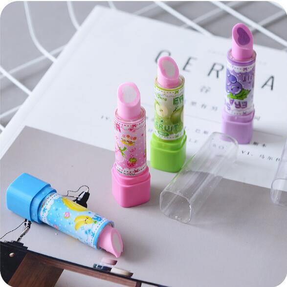 Hotsale Stationery Novelty Cheap 3D shape Eraser,high quality rubber eraser,high quality Lipstick eraser