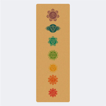 Premium Gym Rubber Cork Yoga Mat Custom Print Designed