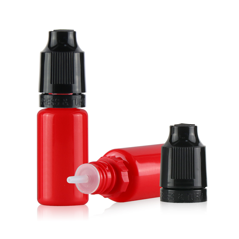High quality pet bottle 10ml small empty ejuice plastic eliquid bottles with childproof cap