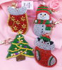 5D Diy Diamond Painting Keychain 4 Pieces Pendant Bag accessories Christmas Series