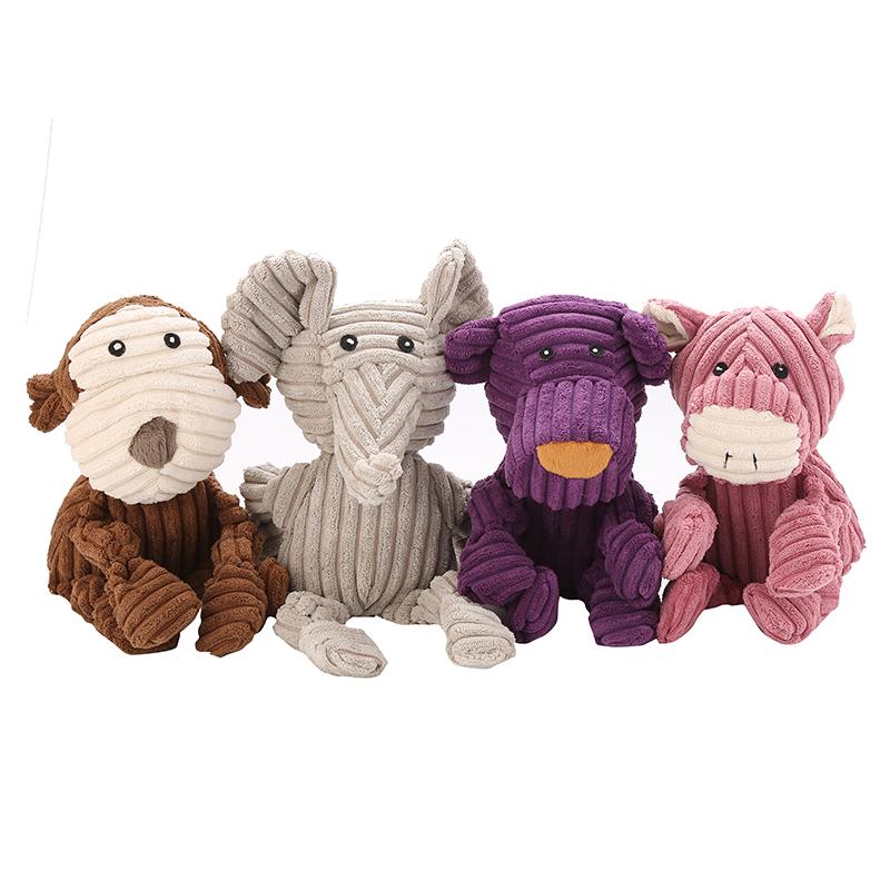 Produk Anjing Baru Pak Mainan Anjing Korduroi Bermacam Mainan Anjing Mewah Anjing dengan Suara Di Setiap Kaki dan Kaki