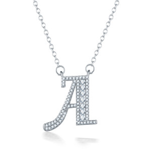 2019 new arrivals Hot sale fashion style 26 letters pendant letter necklace, DIY name custom necklace, women jewelry chain