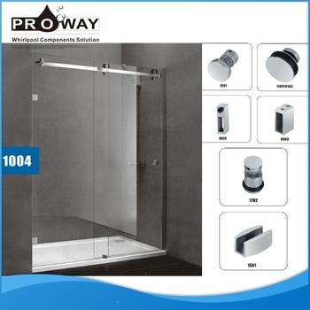 Puerta de vidrio corredera de ba o armario de acero inoxidable hardware para puerta de vidrio - Puerta corredera bano ...