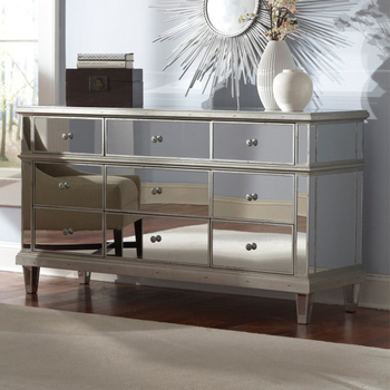 Mr 4g0096 Large Mirrored Bedroom Furniture With 9 Drawers Bedside