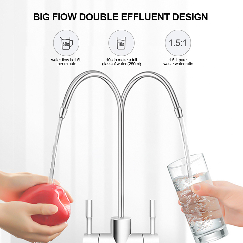New Technology 600GPD RO Drinking Water Filter Purifier Reverse Osmosis Purification System