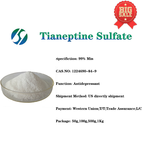 USA Warehouse supply Tianeptine sulphate powder / Tianeptine sulfate with CAS 1224690-84-9