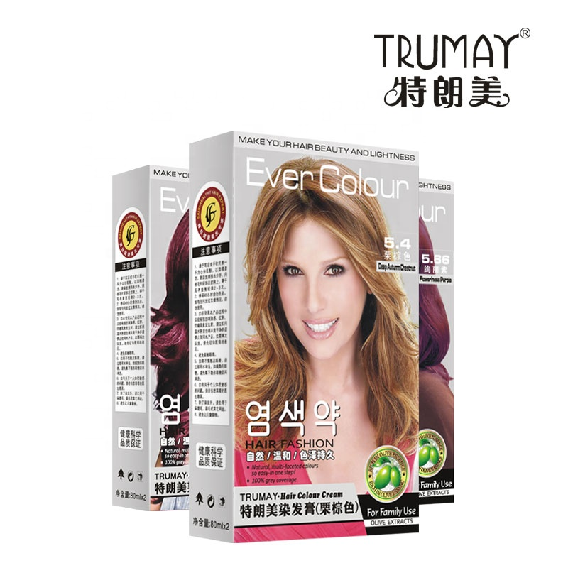trumayColorful <strong>hair</strong> dye non-stick scalp ammonia-free mild coloring house use <strong>hair</strong> <strong>color</strong> cover White grey <strong>hair</strong> dye SAISI genuine