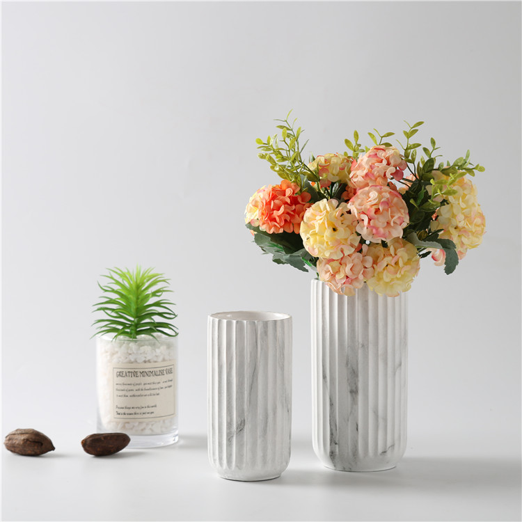 hot sale wholesale matte marble modern porcelain vase