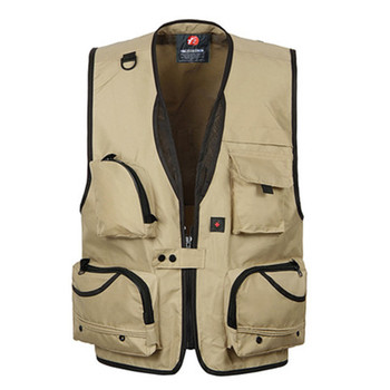 Factory Outdoor Breathable Custom Photographer Fishing Vest Jacket for Men with Many Pockets
