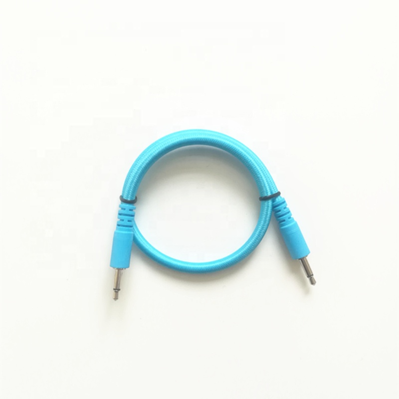"Großhandel alibaba bunte Nylon geflochtene audio kabel 1/8 ""3,5mm mono patch eurorack patch kabel für modulare synthesizer"