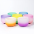 SUCCESS Colored Chakra Singing Bowl set CDEFGAB Candy Frosted Crystal Singing Bowl Supplier