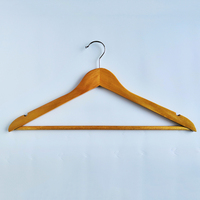 2019 retail shop cloth wooden bulk clothes hangers hanger wardrobe