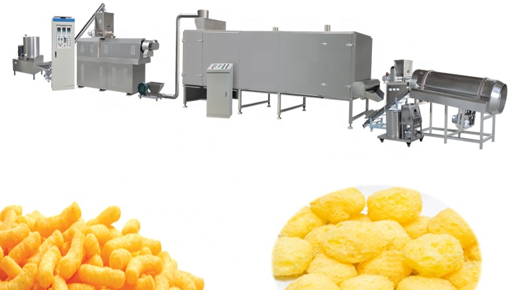 On Hot Sale Puffed Corn Stick Snack Extruder Machine Equipment