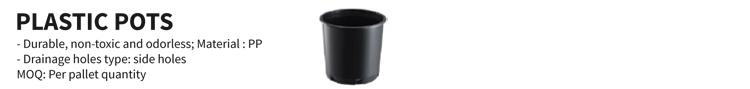 מחיר חכם 7/11 ליטר סיר משתלה ריבוע השחור פלסטיק
